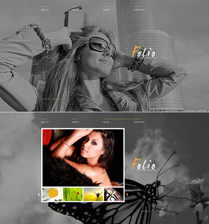 ADOBE Photoshop Template 33954 Home Page Screenshot