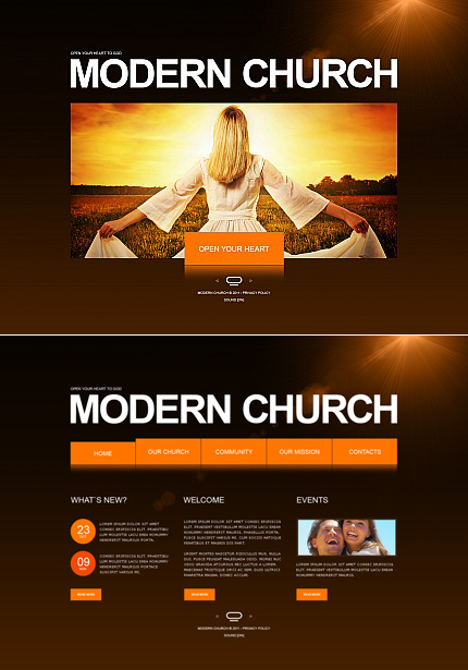 ADOBE Photoshop Template 33956 Home Page Screenshot