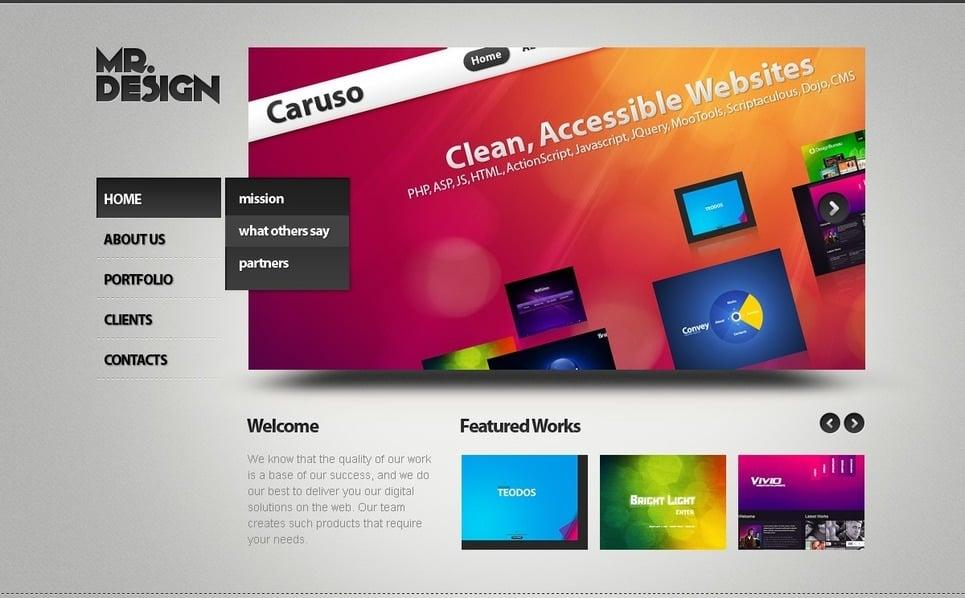 Flash CMS Vorlage für Web Design  New Screenshots BIG