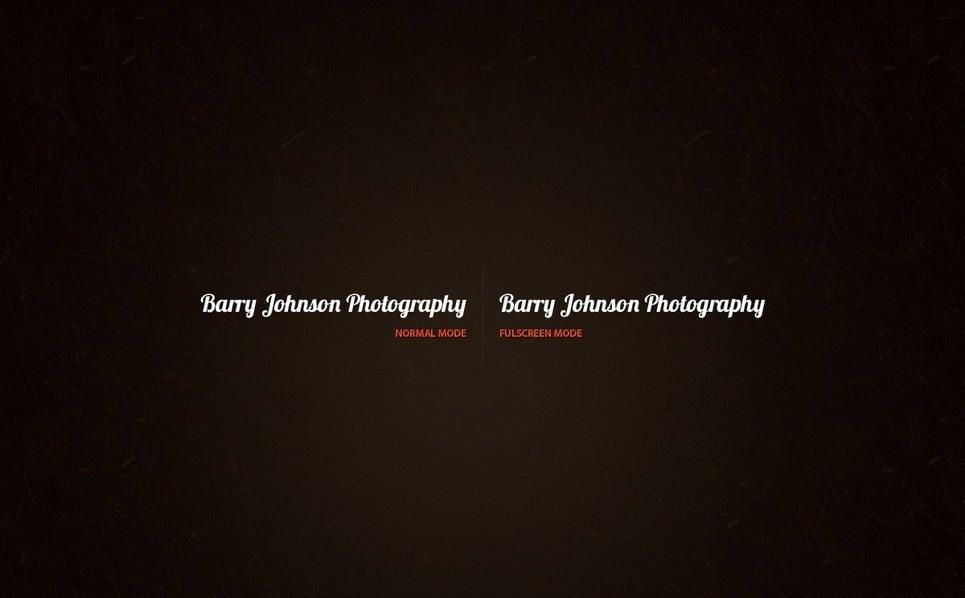 Szablon Galerii Zdjęć #33992 na temat: portfolio fotograficzne New Screenshots BIG