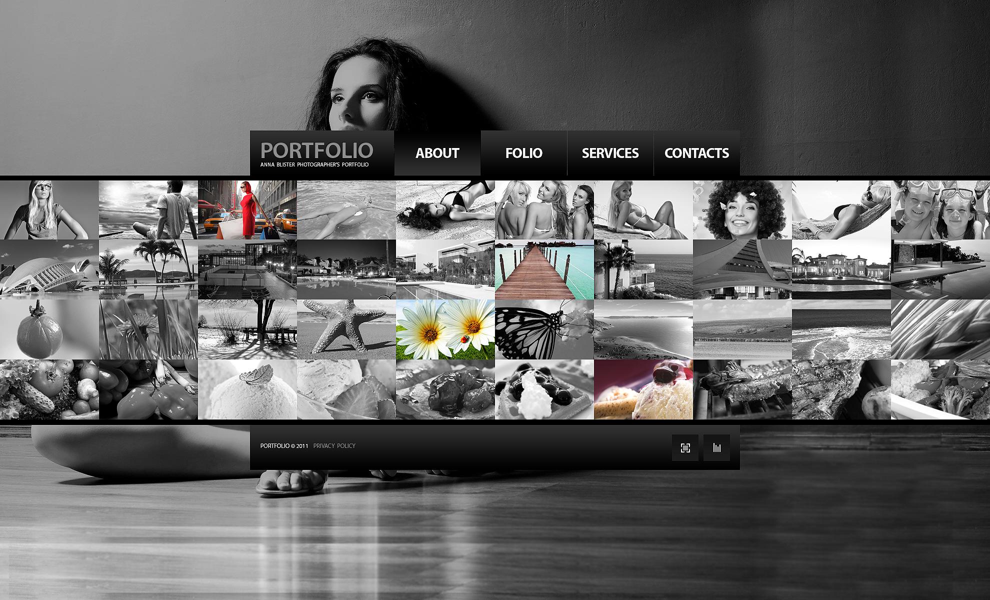 Fényképész portfóliók témakörű Fényképgaléria sablon 33955 - képernyőkép