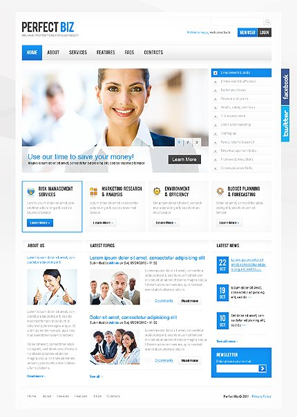 Drupal Template 34025 Main Page Screenshot
