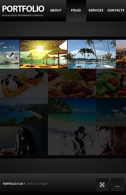 ADOBE Photoshop Template 34032 Home Page Screenshot