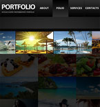 Art & Photography Facebook Flash CMS  Template 34032