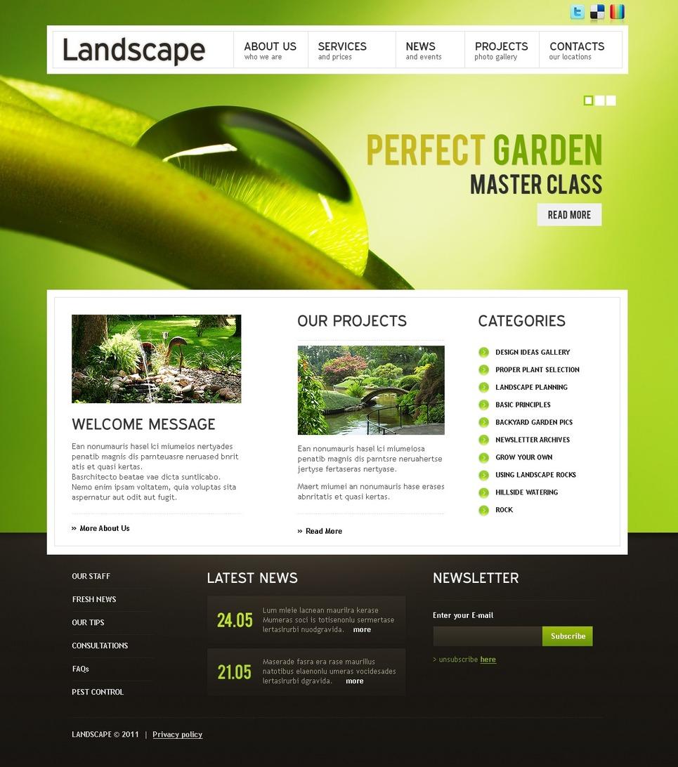 Modello Siti Web per Un Sito di Architettura del Paesaggio