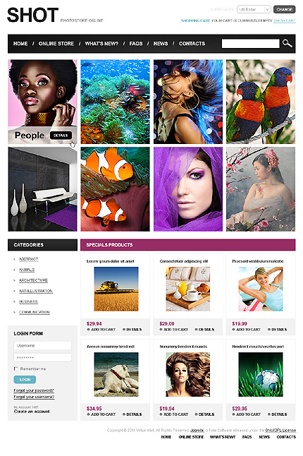 ADOBE Photoshop Template 34103 Home Page Screenshot