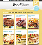Food & Drink ZenCart  Template 34108