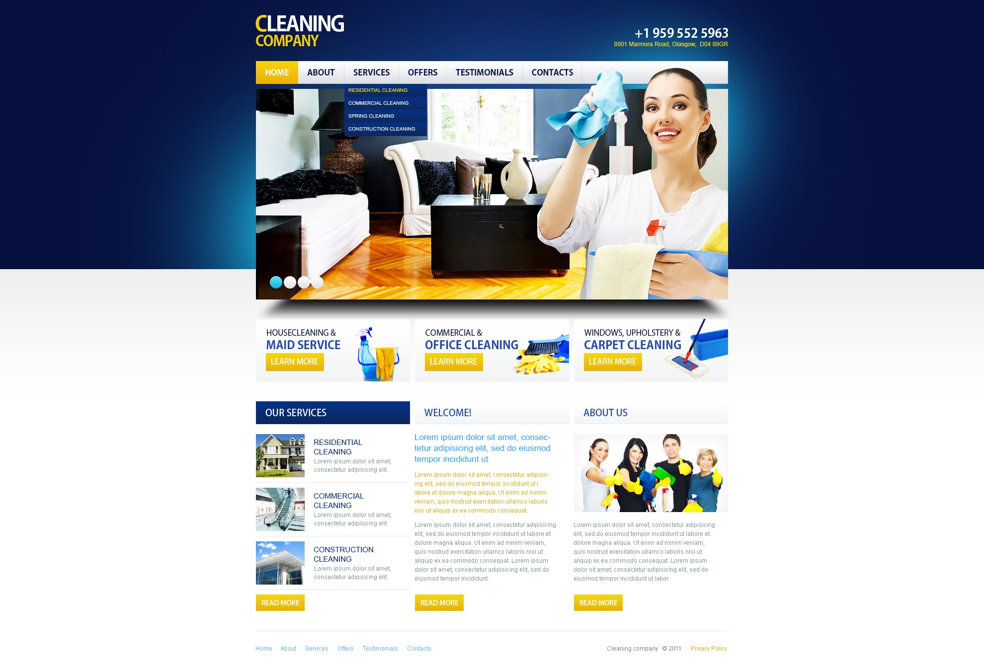 Cleaning Website Template #34197