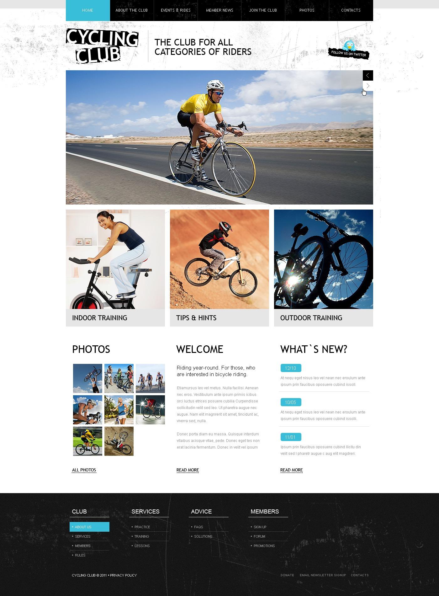 Kerékpározás témakörű WordPress sablon 34114 - képernyőkép