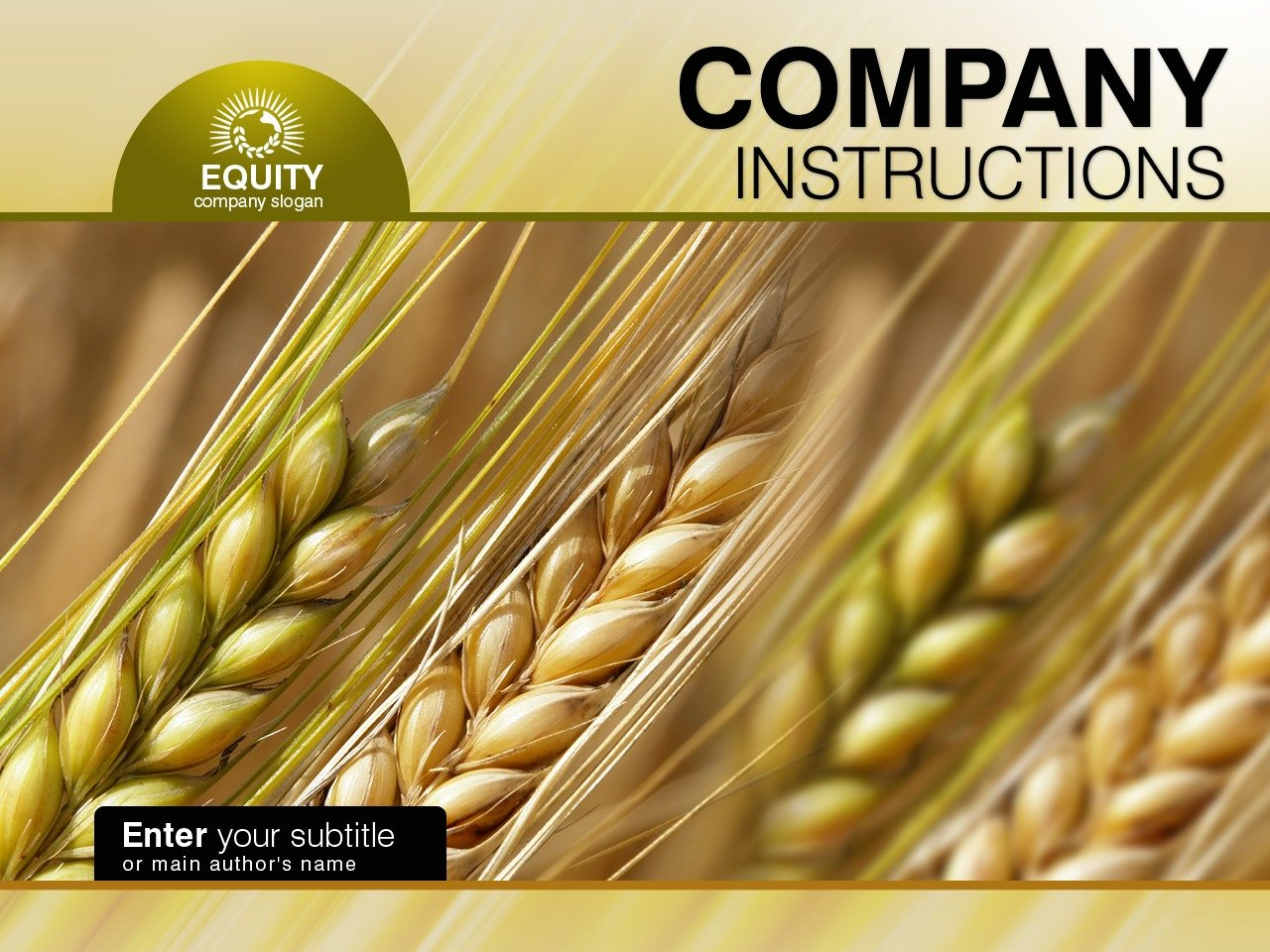 PowerPoint шаблон №34175 на тему сельское хозяйство