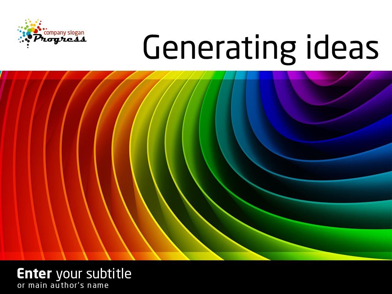 设计工作室PowerPoint 模板 #34170