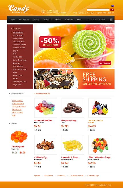 ZenCart Template 34200 Main Page Screenshot