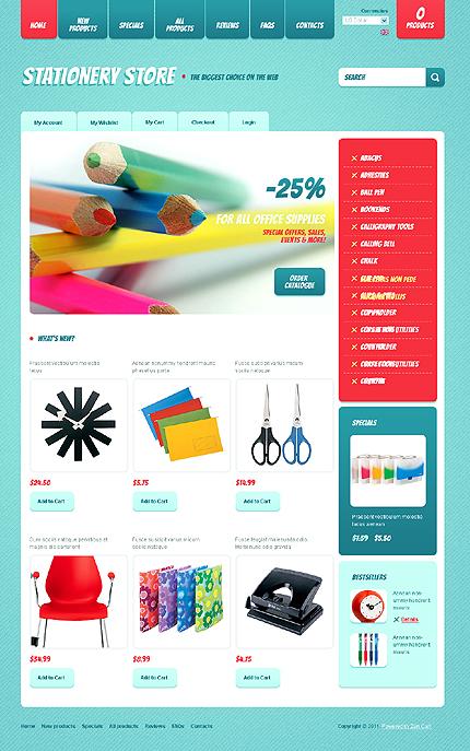 ZenCart Template 34201 Main Page Screenshot