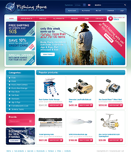 ZenCart Template 34202 Main Page Screenshot