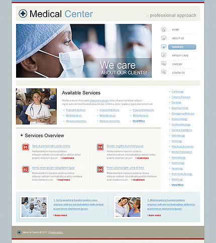 Template 34260 ( Services Page ) ADOBE Photoshop Screenshot