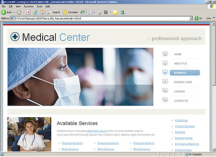 Template 34260 ( Services Page ) HTML Screenshot