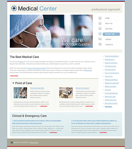 Template 34260 ( Patient Care Page ) ADOBE Photoshop Screenshot