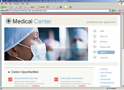 Template 34260 ( Career Page ) HTML Screenshot