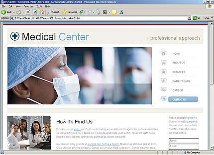 Template 34260 ( Contacts Page ) HTML Screenshot