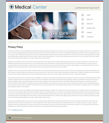 Template 34260 ( Privacy Policy Page ) ADOBE Photoshop Screenshot
