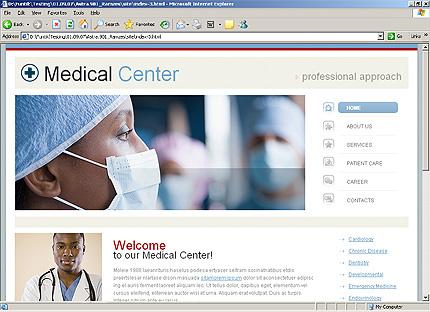 HTML Template 34260 Home Page Screenshot