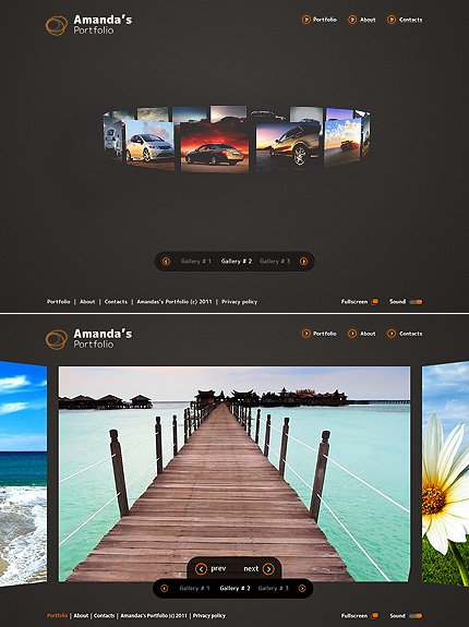 ADOBE Photoshop Template 34263 Home Page Screenshot