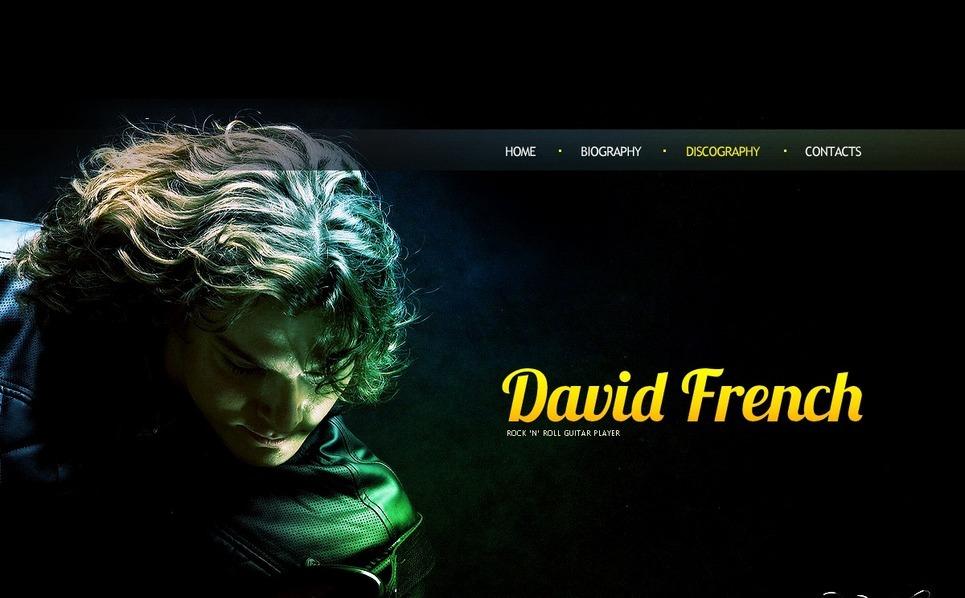 Flash CMS šablona Osobní stránky New Screenshots BIG