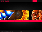 Art & Photography Flash CMS  Template 34267