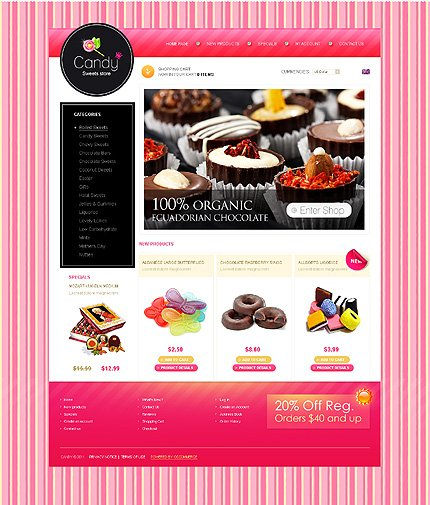 osCommerce Template 34293 Main Page Screenshot