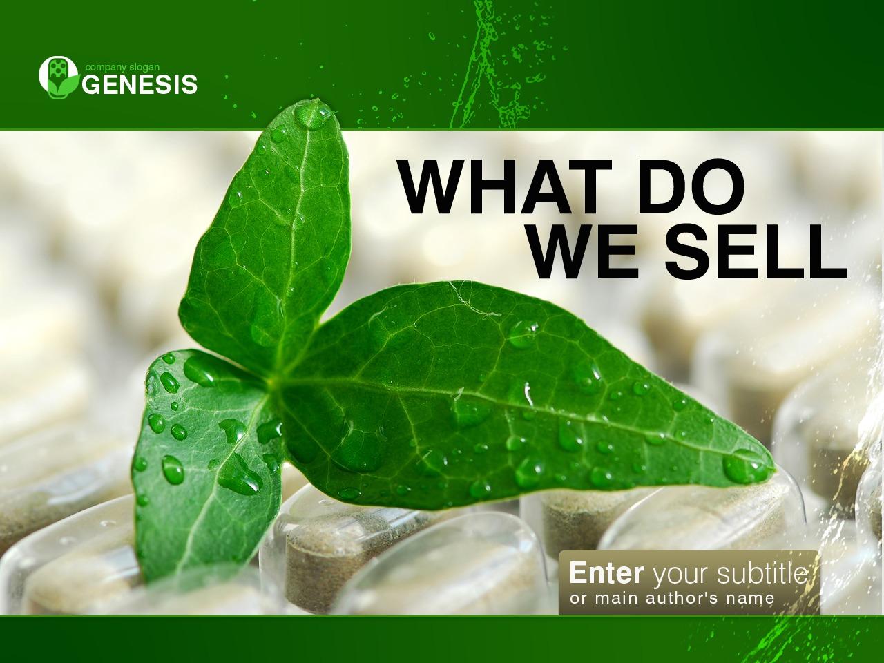 PowerPoint шаблон №34279 на тему лекарственные травы - скриншот