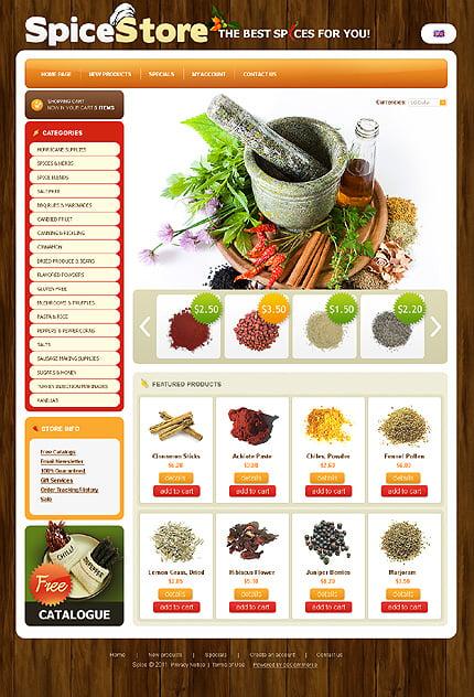 osCommerce Template 34301 Main Page Screenshot