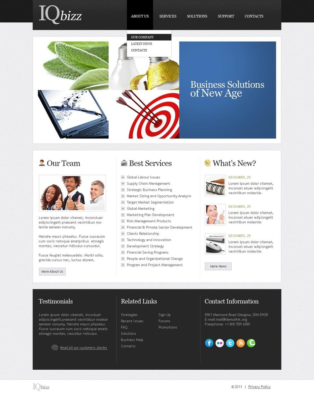 Template Web Para Sites De Consultoria