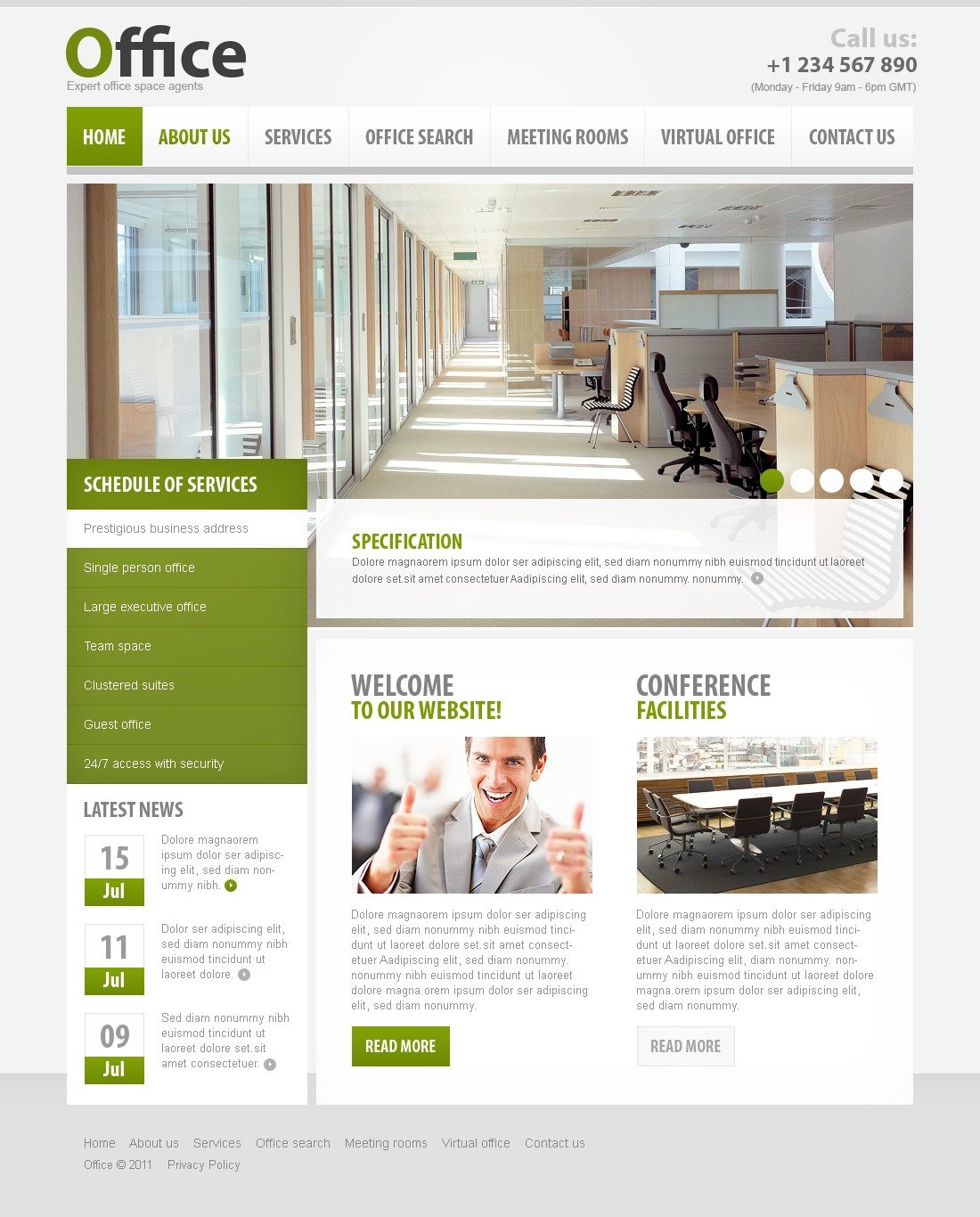 Office website template #34353.