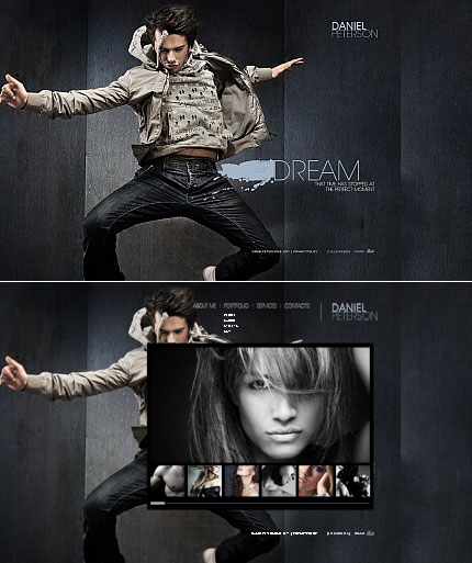ADOBE Photoshop Template 34445 Home Page Screenshot