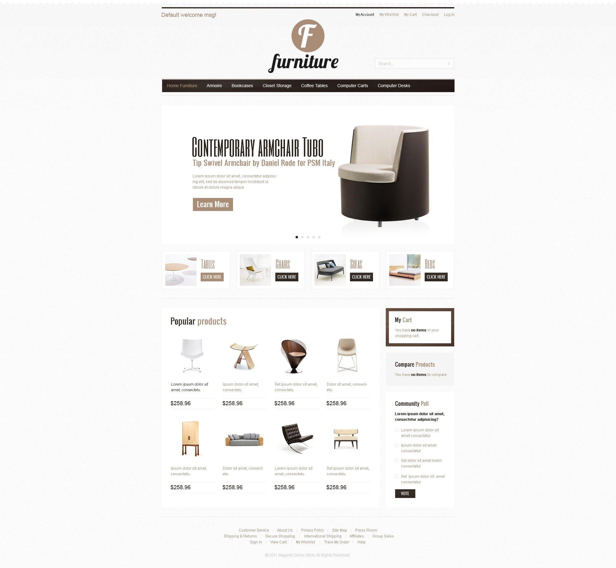 Magento тема мебель №34402 - скриншот
