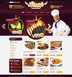 Cafe & Restaurant osCommerce  Template 34517
