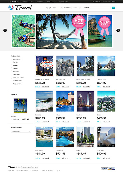osCommerce Template 34518 Main Page Screenshot