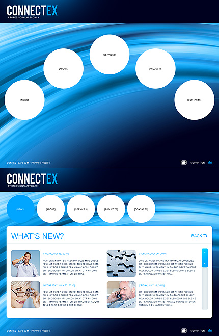 ADOBE Photoshop Template 34552 Home Page Screenshot