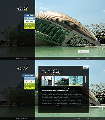 ADOBE Photoshop Template 34553 Home Page Screenshot