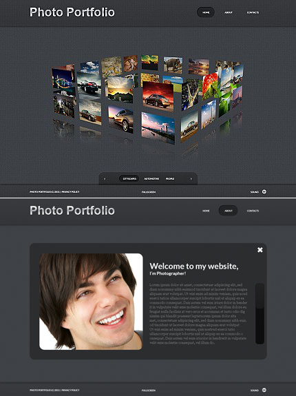 ADOBE Photoshop Template 34586 Home Page Screenshot