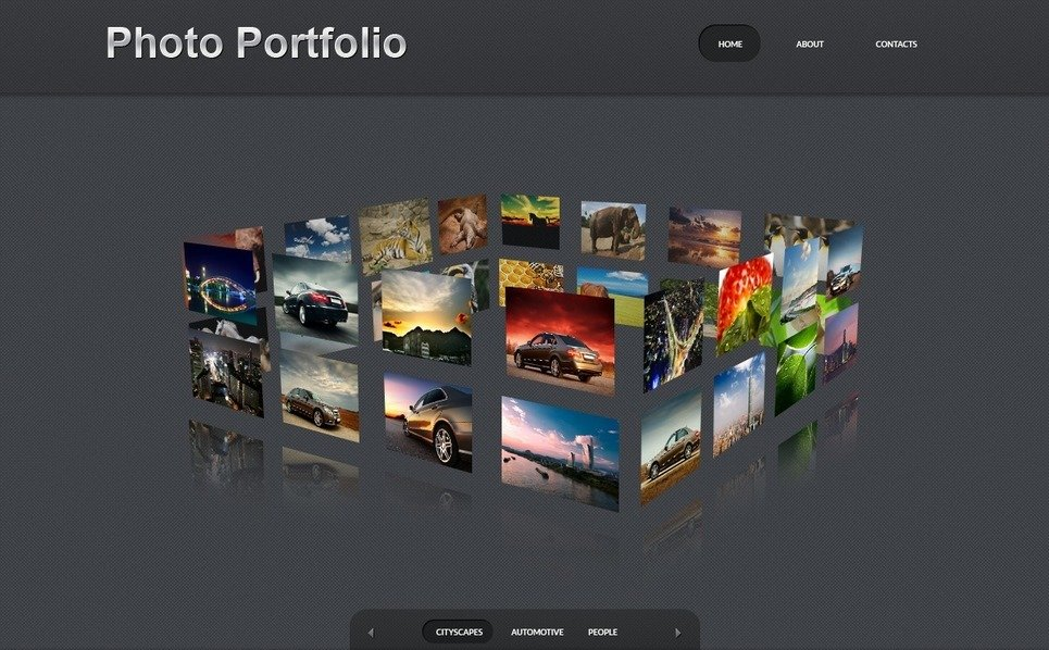 Šablona Fotogalerie Portfolio fotografa New Screenshots BIG