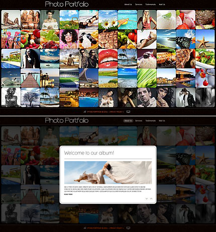 ADOBE Photoshop Template 34587 Home Page Screenshot
