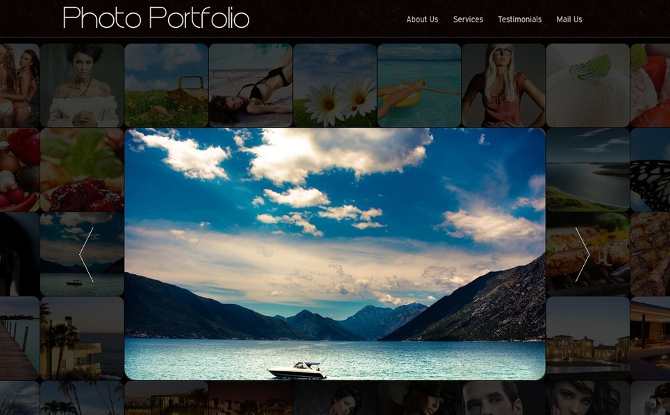 Foto Galerij Template over Fotograaf Portfolio New Screenshots BIG