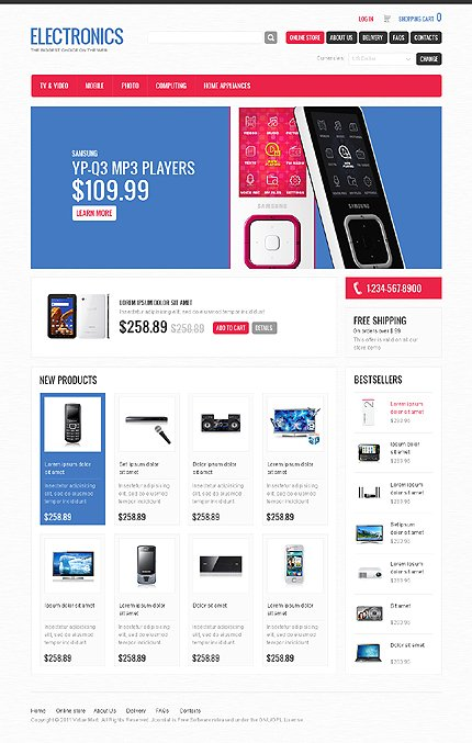 ADOBE Photoshop Template 34597 Home Page Screenshot