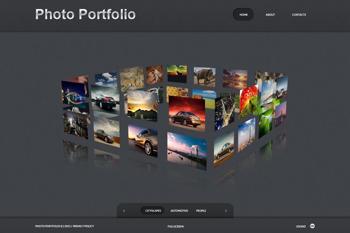Fényképész portfóliók témakörű Fényképgaléria sablon 34586 - képernyőkép