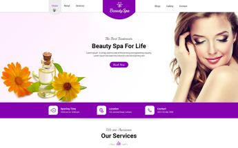 Beauty Salon Psd Templates