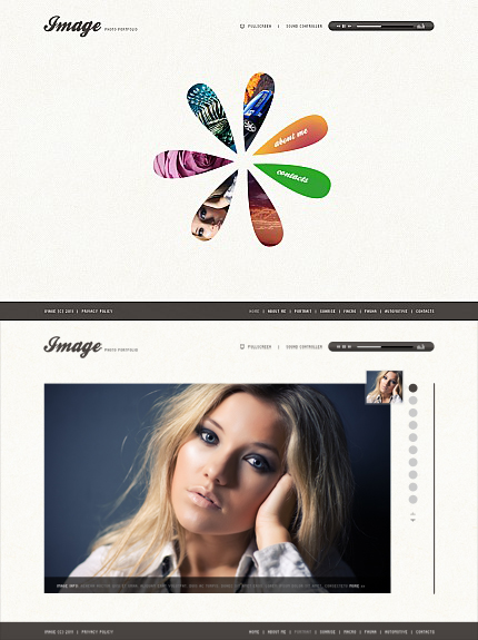 ADOBE Photoshop Template 34615 Home Page Screenshot