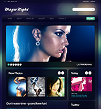 Night Club Drupal  Template 34636