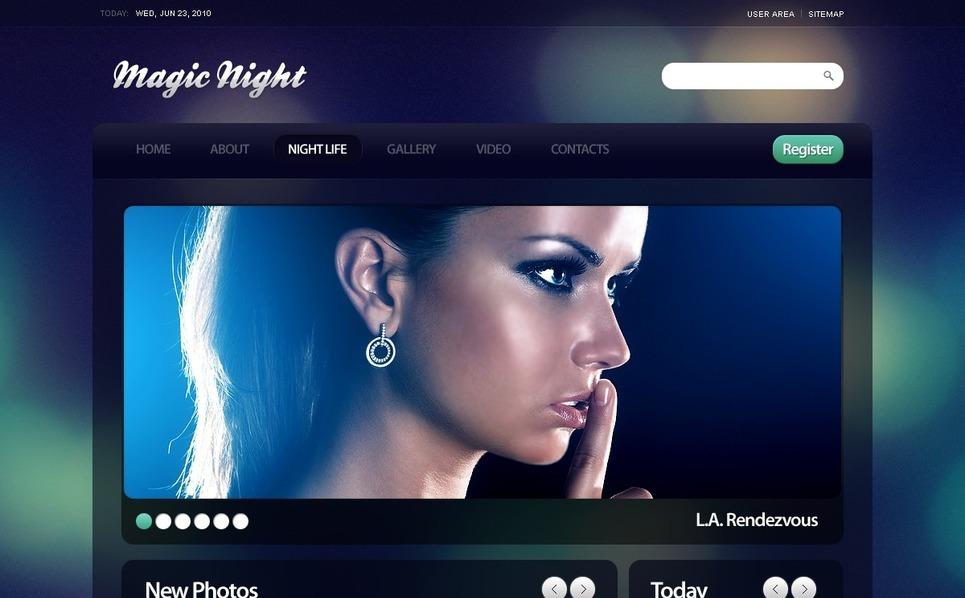 Drupal Vorlage für Nachtclub  New Screenshots BIG