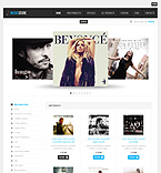 Music ZenCart  Template 34673